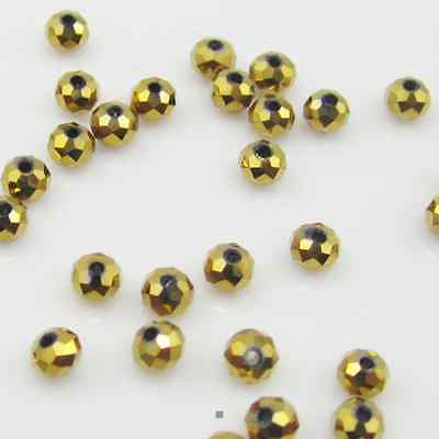100pcs 4mm DIY Jewelry Faceted Rondelle crystal P5040 3x4mm Beads Ab colors D1