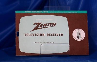 Zenith 1962 Television Receiver Operating Manual and schemtatic