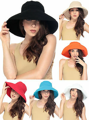 Fashion Summer Women Wide Brim Floppy Bohemia Cap Bucket Beach Sun Hat US Seller