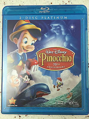 Pinocchio (Blu-ray Disc, 2009, 2-Disc Set, Canadian; 70th Anniversary...