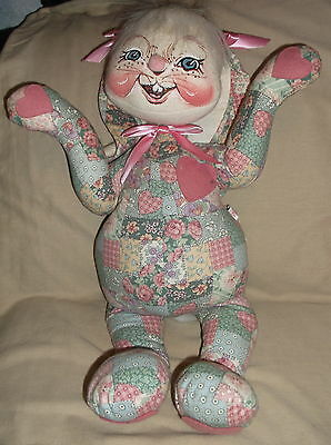 """Collectible Annalee Mobilitee dolls-easter bunny-stuffed toy rabbit-22""""-1999-"""