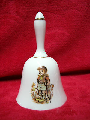 """Vintage Porcelain Dinner Bell """"Little Boy with Umbrella"""" by Price Imports Japan"""