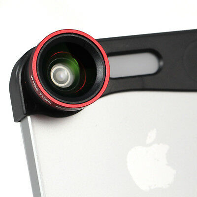 Red 3-in-1 180° Fish Eye Fisheye + Wide Angle + Macro Lens Kit for iPhone 5 5s