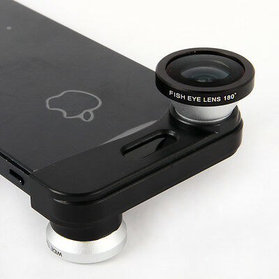 3 in 1 Wide Angle & Macro & FishEye Mobile phone Camera lens for iPhone 5S & 5