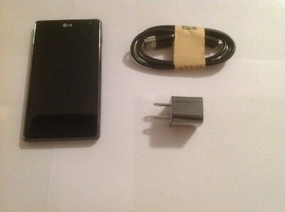 LG Optimus G E970 16GB Black AT&T Unlocked Smartphone Excellent Condition