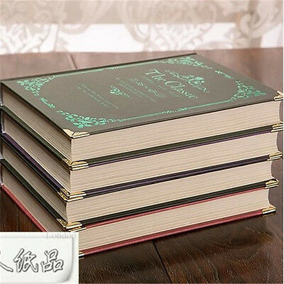 """7.28"""" x 5.31"""" Retro Classical Vintage Blank Journal Diary notebook Sketchbook"""