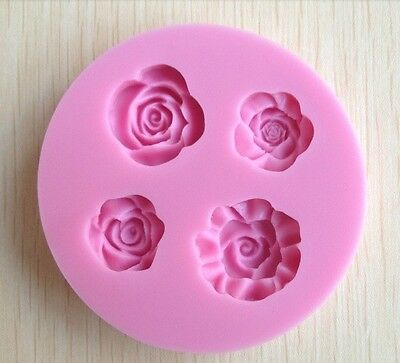 ROSE SHAPE CHOCOLATE CANDY 3D SILICONE MOLD CAKE AND SOAP TOOLS
