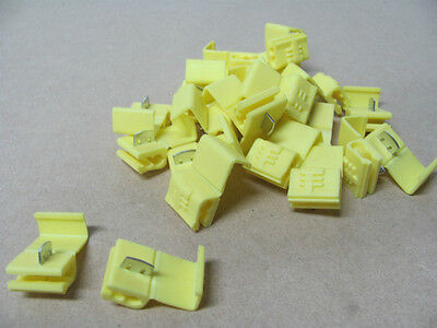 ELECTRICAL CRIMP SCOTCH TYPE LOCKS YELLOW 6MM CABLE SIZE PACKETS 25