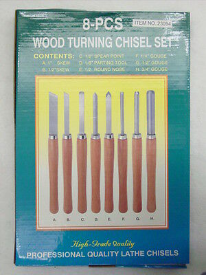 HAND TOOL SET - 8 piece WOOD LATHE CHISELS Tools NEW!