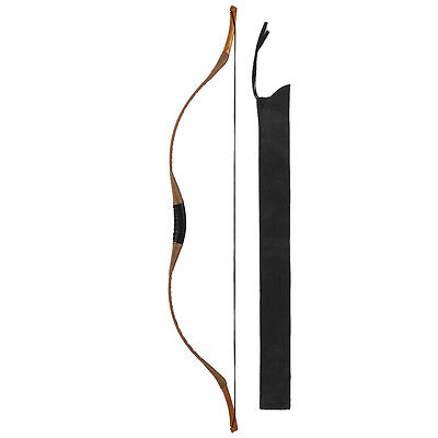 Horsebow Archery Traditional hunting Longbow 50IBS Pigskin Recurve bow+ String