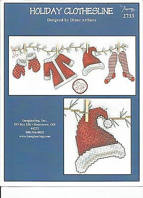 Christmas Holiday Clothesline 2733 Imaginating Counted Cross Stitch Pattern