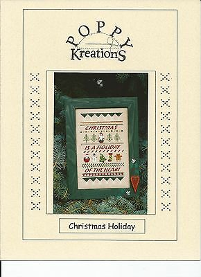 Christmas Holiday Counted Cross Stitch Pattern Poppy Kreations