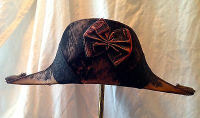 ENGLISH ARMY RARE 1800's BICORNE HAT Beaver JONES CHALK & DAWSON & London