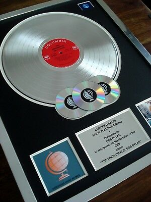 The Freewheelin' Bob Dylan Lp Multi Platinum Disc Record Award Album