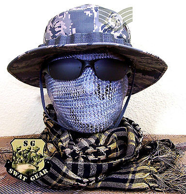 NEW US AIR FORCE ABU RIPSTOP DIGITAL TIGER STRIPE CAMO BOONIE HAT SIZE 7 1/4