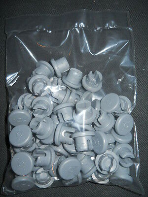 (50) West 20mm Gray 4432/50 S-87J Elastomer Double Vent Rubber Stoppers