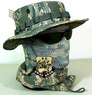 NEW US AIR FORCE ISSUE ABU DIGITAL TIGER STRIPE CAMO BOONIE HAT  7 SMALL