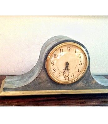 Antique Hand Painted Annie Sloan Chalk Paint Mantle Clock Seth Thomas Chimes