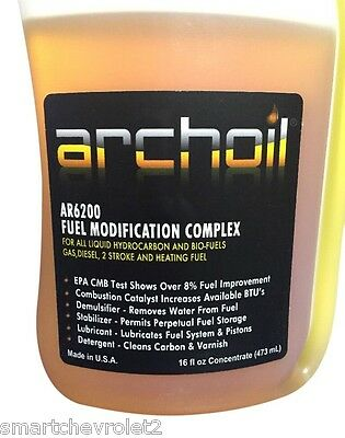 ArchOil Ar6200  16oz. Fuel Additive Modification Complex For all Fuels