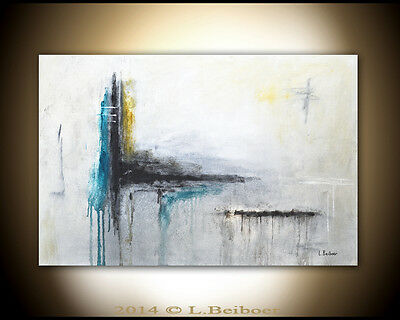 ORIGINAL ABSTRACT ART LARGE MODERN CONTEMPORARY OIL PAINTING ~ L. Beiboer ~