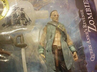 """Pirates of the Caribbean on Stranger Tides Queen Annel's Revenge Zombie 4"""" scale"""