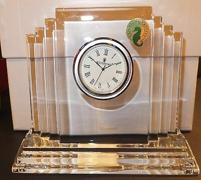 Waterford Crystal Metropolitan Medium Clock New with Tag