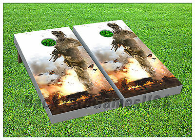 VINYL WRAPS Cornhole Boards DECALS Call of Duty Fans Bag Toss Game Stickers 177