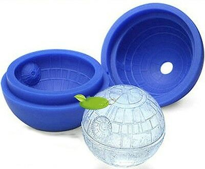 Silicone Star Wars Death Star Round Ice Cube Tray Desert Sphere Mold Moulds Blue