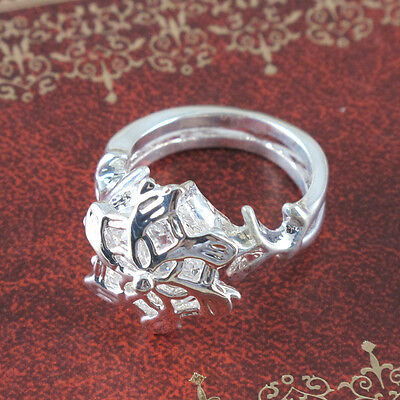 The Lord of the Rings Nenya Galadriel Crystal Elegant Finger Ring Size 6*