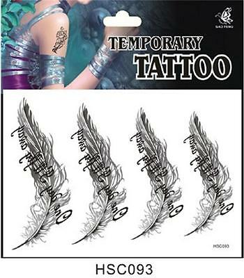 1Pcs Feather Pen Floral New Arrived Temporary Tattoo Sticker Manicure Free PP