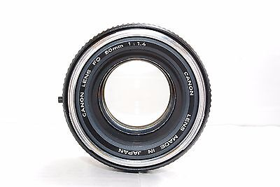 Canon FD 50mm 1:1.4 F1.4 lens excellent from Japan