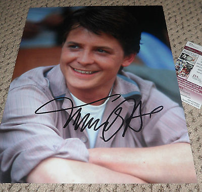 MICHAEL J FOX SIGNED 11X14 PHOTO AUTOGRAPH JSA PROOF BTTF BACK TO THE FUTURE