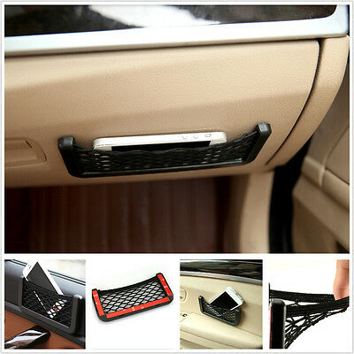 Multifunction Car Storage Resilient Net String Bag Cell Phone GPS Coins Organize