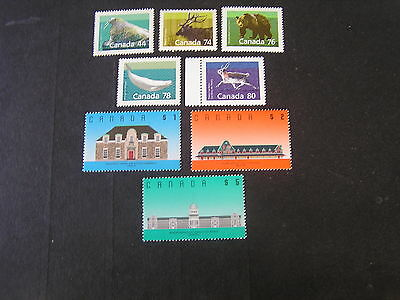 CANADA, SCOTT # 1171+1177-1179(3)+1180a+1181-1183(3) TOTAL 8 1967-91 ISSUES MNH