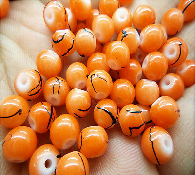 NEW 50pcs 6mm stripe Ball crystal Beads for Fit Bracelets Necklaces Charm HG02