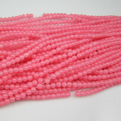 100pcs 4mm  Ball Loose Round Glass crystal Beads for Fit Bracelets Necklaces B04
