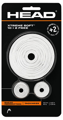 Head Xtreme Soft Roll Racket Overgrip (12 Pack) - White