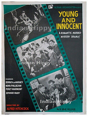 Alfred Hitchcock Young and Innocent 1937 rare original old vintage movie poster!