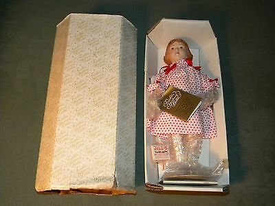 Jello Girl Porcelain Doll, Franklin Mint Collector Doll, NEW