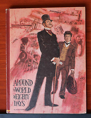 Around the World in Eighty Days by Jules Verne 1969 hardcover