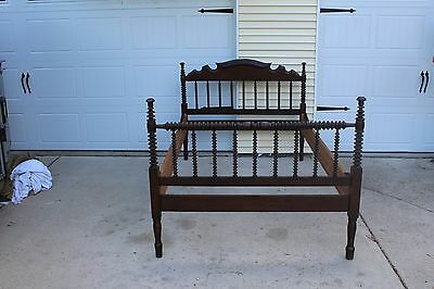Antique Walnut Spool Type Bed