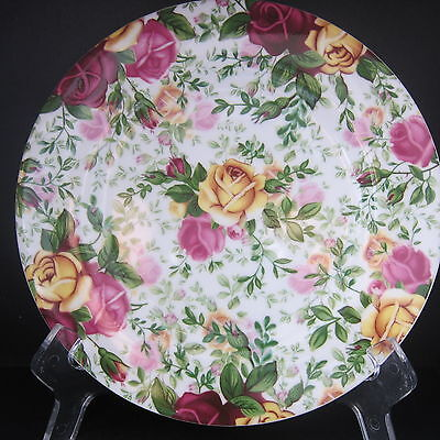 """Royal Albert Old Country Roses Chintz Salad Dessert Plate 7.5"""" Made in England"""