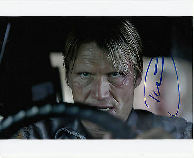 "Original Signed Color Photo of Dolph Lundgren of ""The Expendables"""