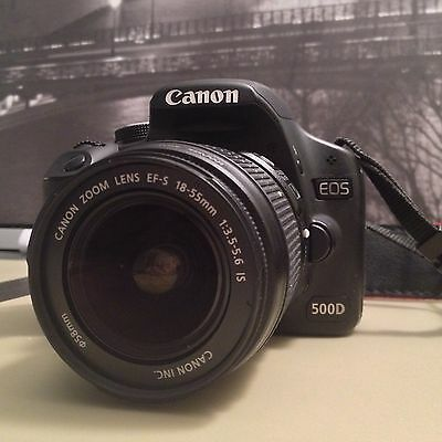 Canon EOS Rebel T1i / 500D 15.1 MP Digital SLR Camera - Black (Kit w/ EF-S IS 18