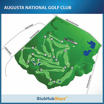2015 Masters Golf Practice Round Full Day Ticket w/ Free Parking Tuesday 4/7/15