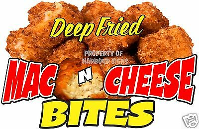 "Deep Fried Mac N Cheese Bites Decal  14"" Restaurant Concession Food Truck"