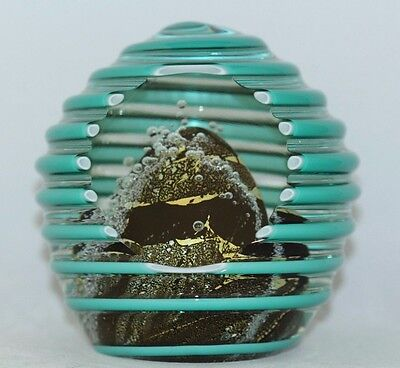 AWESOME Magnum NOUROT Faceted BEE HIVE Glass PAPERWEIGHT, w/ COA David LINDSAY