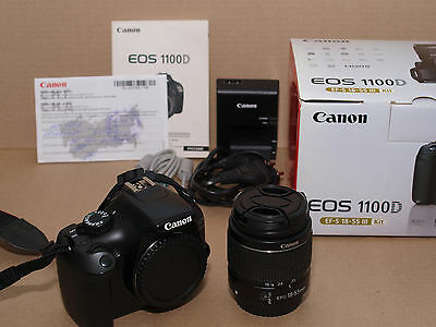 BOXED Canon EOS Rebel T3 / 1100D / Kiss X50 Kit with EF-S 18-55 1:3.5-5.6 III