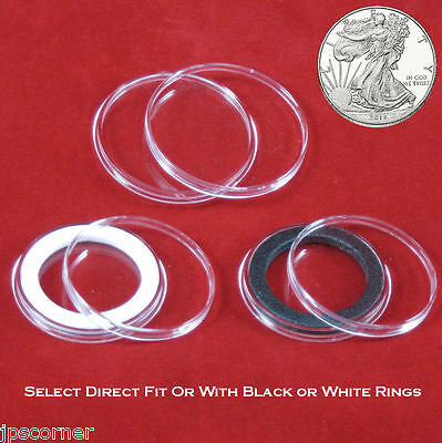 10 Air-tite 39mm Green Velour Colored Ring Coin Holder Capsules for 1oz