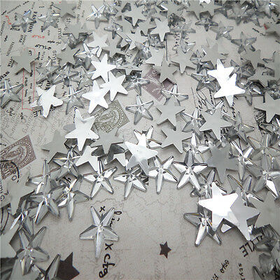 NEW DIY 50pcs Resin Pointed star  Flat back Scrapbooking For DIY craft FN01